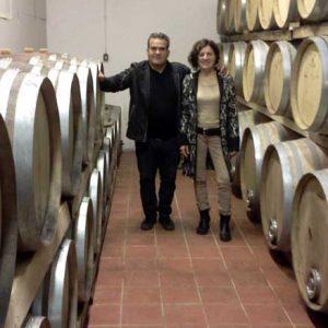 Podere Casina Marcello und Rahel im Weinkeller